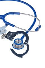 Handschellen und Stethoskop