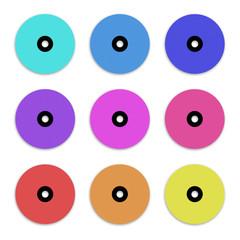Colour CD DVDs