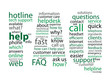 """""""FAQ"""" Tag Cloud (questions support help hotline icons button)"""