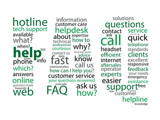 """FAQ"" Tag Cloud (questions support help hotline icons button)"