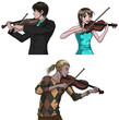 Violin Players Set