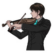 Male Playing Violin