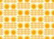 Hintergrund Tapete DDR 3 orange Sonnenblumen