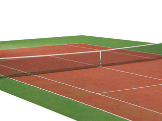 tennis court isolated on white background