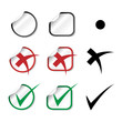 Vector check mark stickers