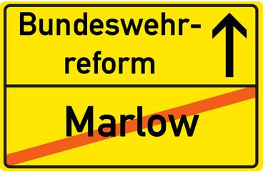 Schild Bundeswehrreform Marlow