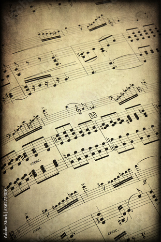 Musical score, texture retro