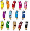 crayons cartoon