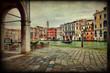 Canal Grande, Venezia, texture retro