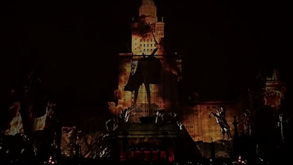 Laser show Moscow University
