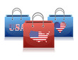 US theme shopping bags illustration