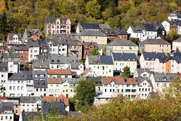 Häuserreihen in Idar-Oberstein