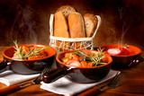 Zuppa di carne mista al rosmarino
