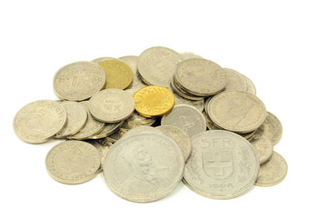 Schweizer Franken Kleingeld