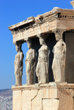 Caryatids, erechtheion temple Acropolis poster
