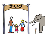 Family weekend - visit at the zoo poster