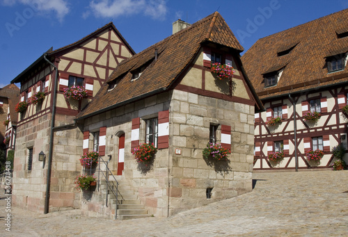 Houses in Imperial Castle Nuremberg