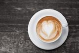Fototapety Cappuccino mit Herz