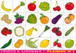 fruits et légumes - planche n°1