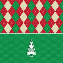 christmas tree argyle pattern background