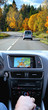 Travel by car with gps system, transport and technology