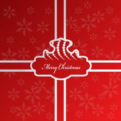 Vector Christmas gift - snowflake background