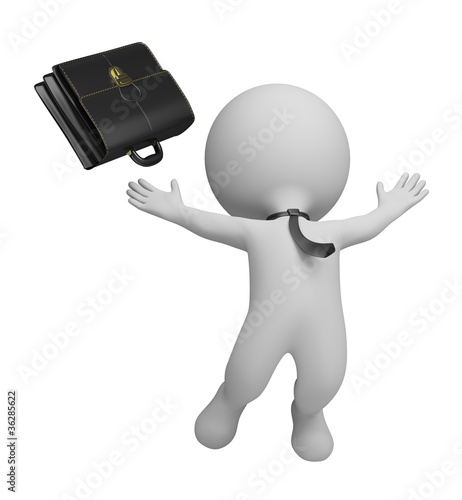 3d small people - successful businessman