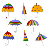 Umbrellas, decorative elements
