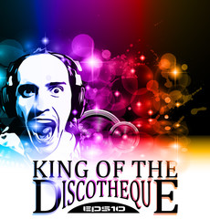 King of the discotheque flyer