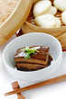 chinese braised pork belly, dongpo pork, with buns