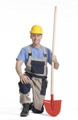 Obrero listo para trabajar