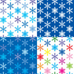 set of 4 snow backgrounds