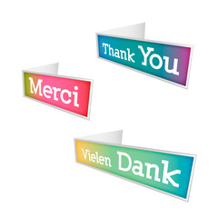 Thank you - grateful bubbles (vector)