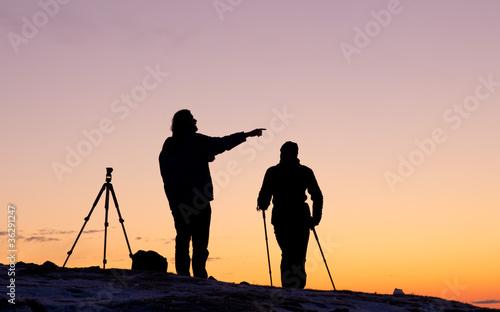 Naturfotograf bei der Arbeit