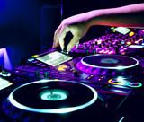 Fototapety Dj mixes the track