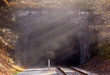 Smoke after train has left tunnel