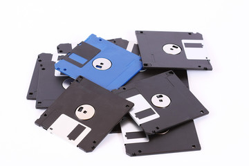 Pile of computer diskette