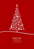 Fototapety Red Christmas Tree Stars