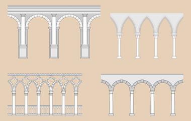 Arcades (Roman, Gothic, Venetian, Renaissance)