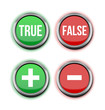 true false positive negative buttons