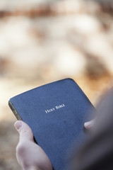 Holding the Bible