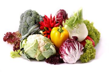 Composizione di verdure fresche