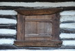old wooden window of traditional house