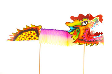 Colorful Paper Dragon Puppet Figurine