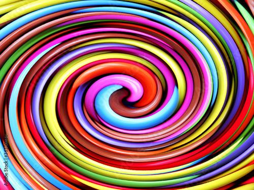 Aluminium Spiraal psychedelic twirl