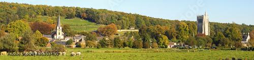 Leinwandbild Motiv Le Bec Hellouin panoramique