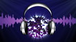 Headphones Disco Ball Background - HD1080