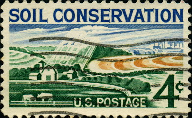 Soil Conservation. US Postage.