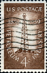 Petroleum Industry. 1859- 1959. US Postage.