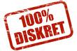 Grunge Stempel rot 100% DISKRET